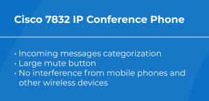 Best VoIP Conference Phone: Cisco 7832 features
