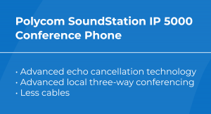 best VoIP conference phone: Polycom SoundStation IP 5000 features