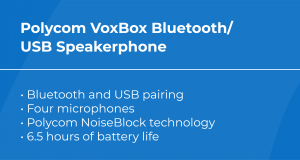 Best VoIP Conference Phone: Polycom VoxBox Bluetooth/USB Speakerphone Features