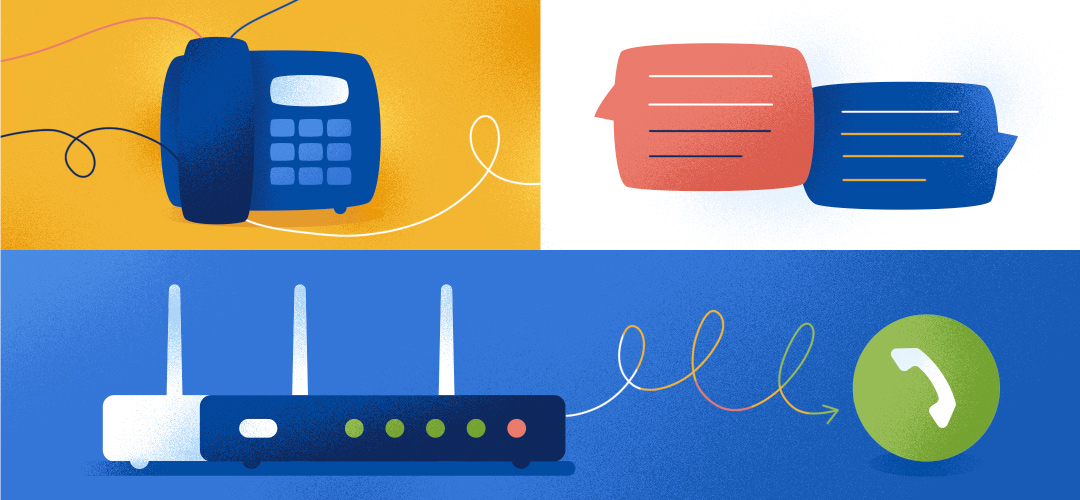 illustrated imagery of router features