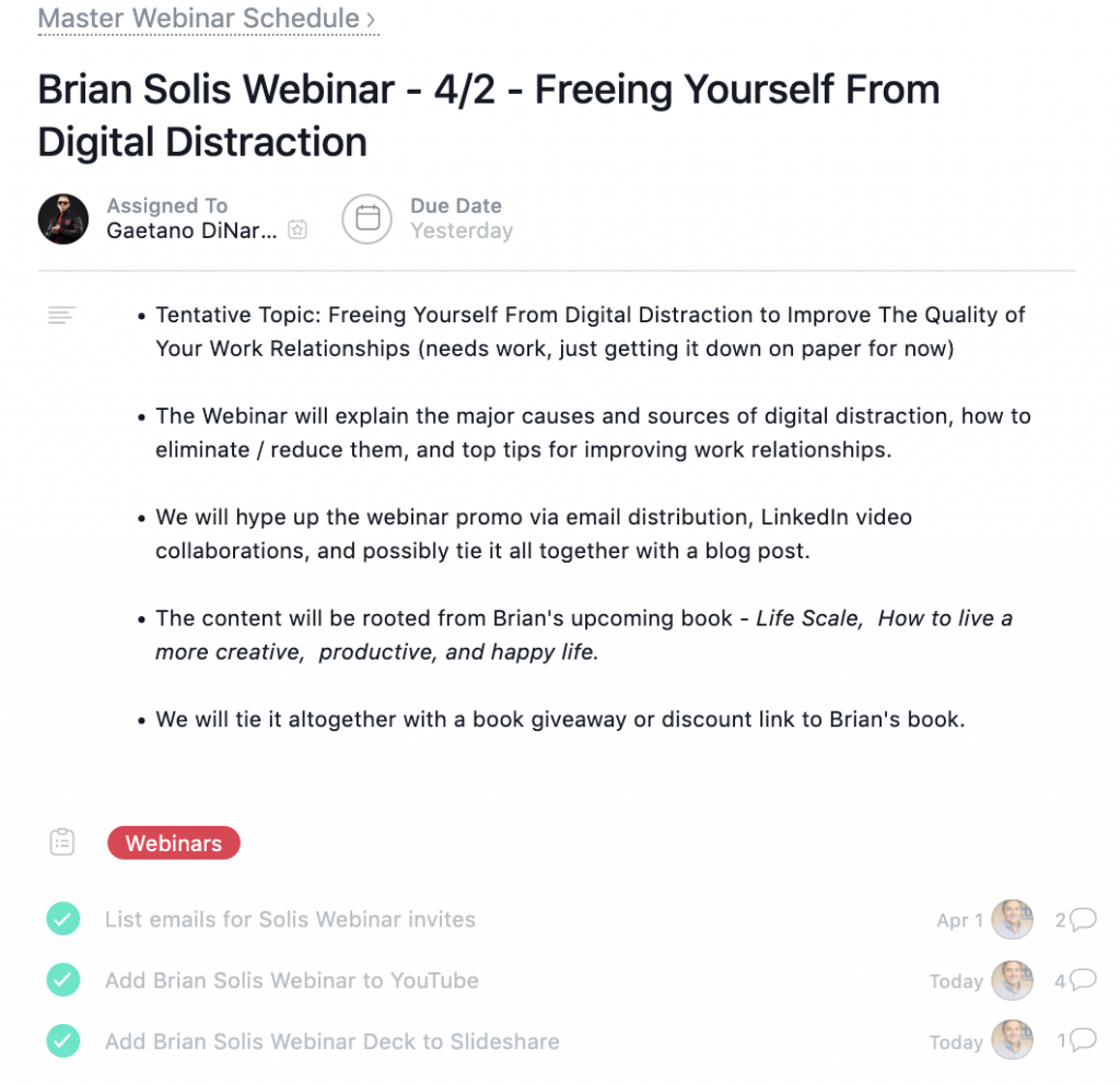 Ways to Improve Work Performance: Using Asana to Group Tasks