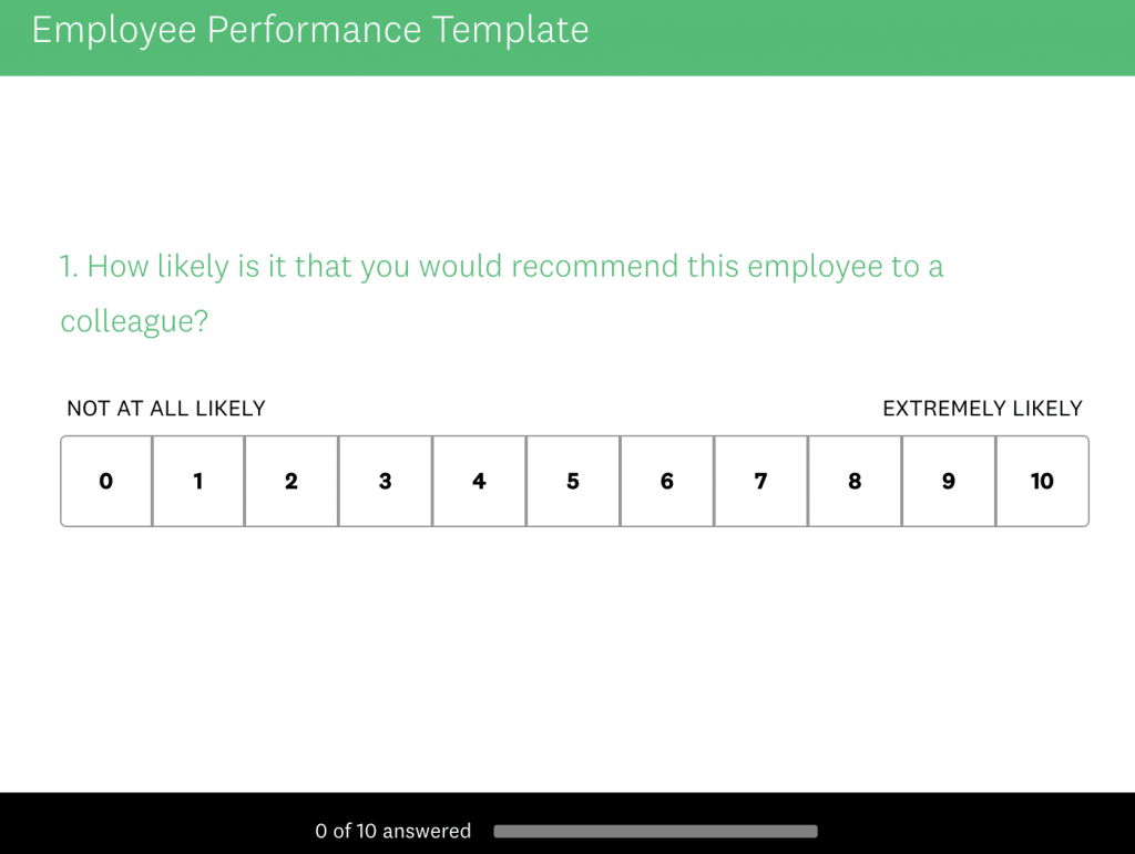 Ways to Improve Work Performance: Employee Survey Template