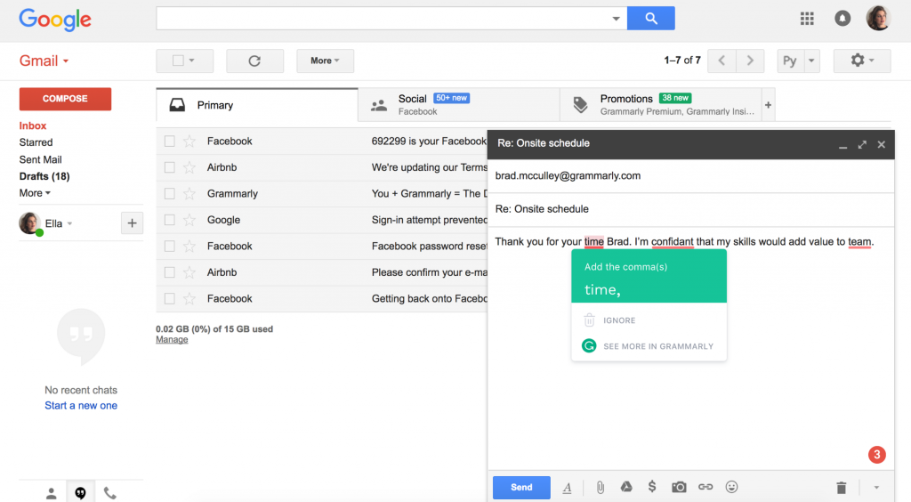 Ways to Improve Work Performance: Grammarly Editor on Gmail