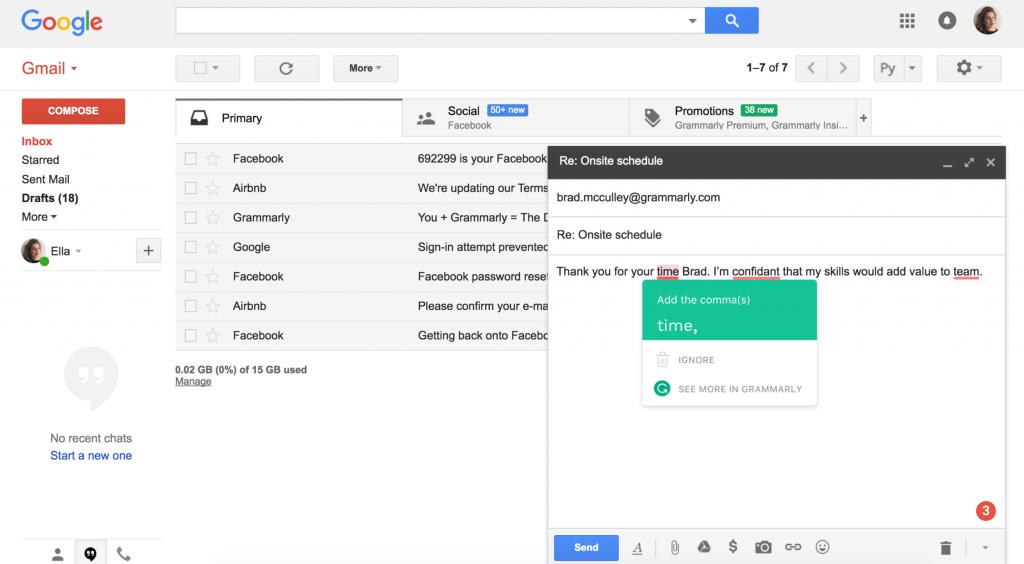 Ways to Improve Work Performance: Grammarly Editor on Gmail