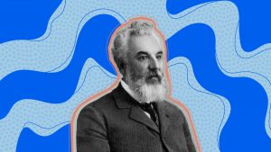 Illustration of Alexander Graham Bell