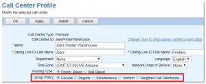 Screenshot of Nextiva's call center profile