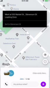 Screenshot of Uber's VoIP feature