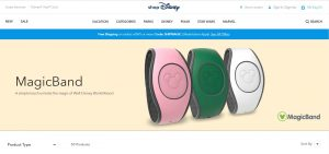Screenshot of Disney's MagicBand
