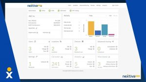Screenshot of Nextiva's contact center software