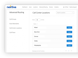Screenshot of managing time zones inside Nextiva's Call Center Software