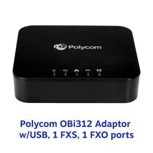 Polycom OBi312 Adaptor w/USB, 1 FXS, 1 FXO ports