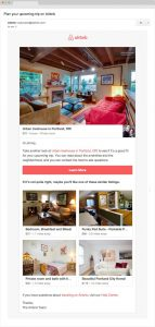 Screenshot of Airbnb email