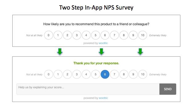 Screenshot of NPS survey