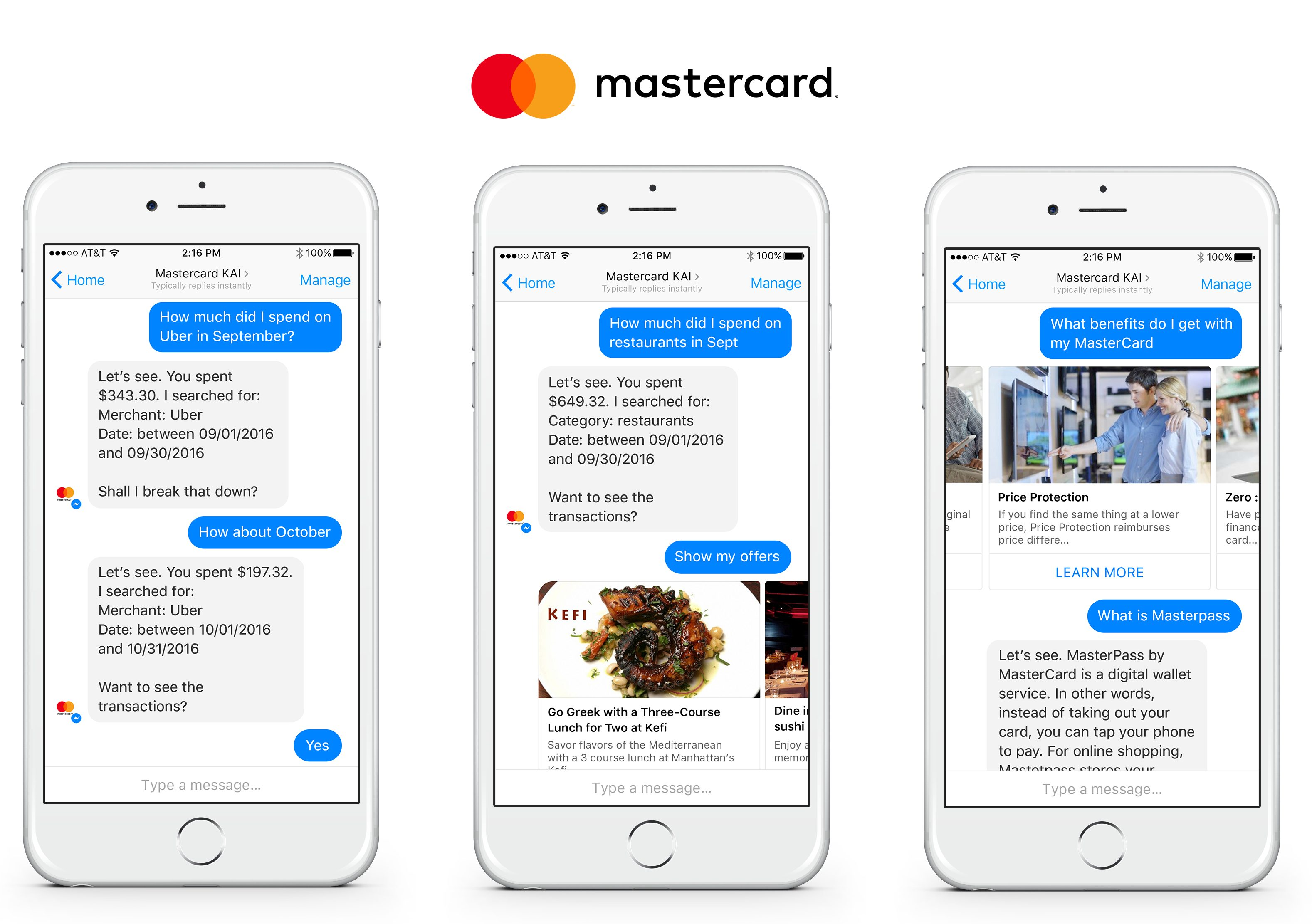 Example showing how Mastercard uses NLP in Customer Service
