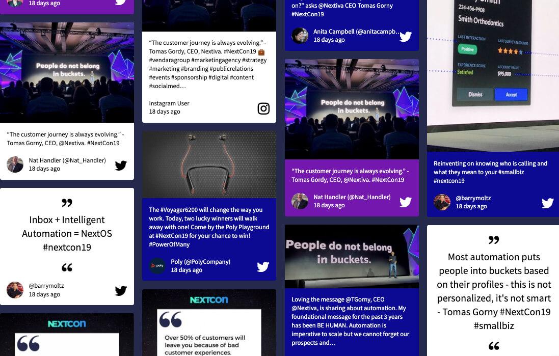 Social Media Wallboard at NextCon: #NextCon19