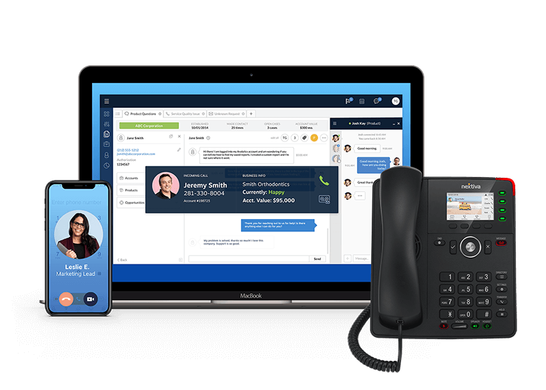 Business Phone Service: Cell phone, Desktop, and Desk Phone (VoIP)