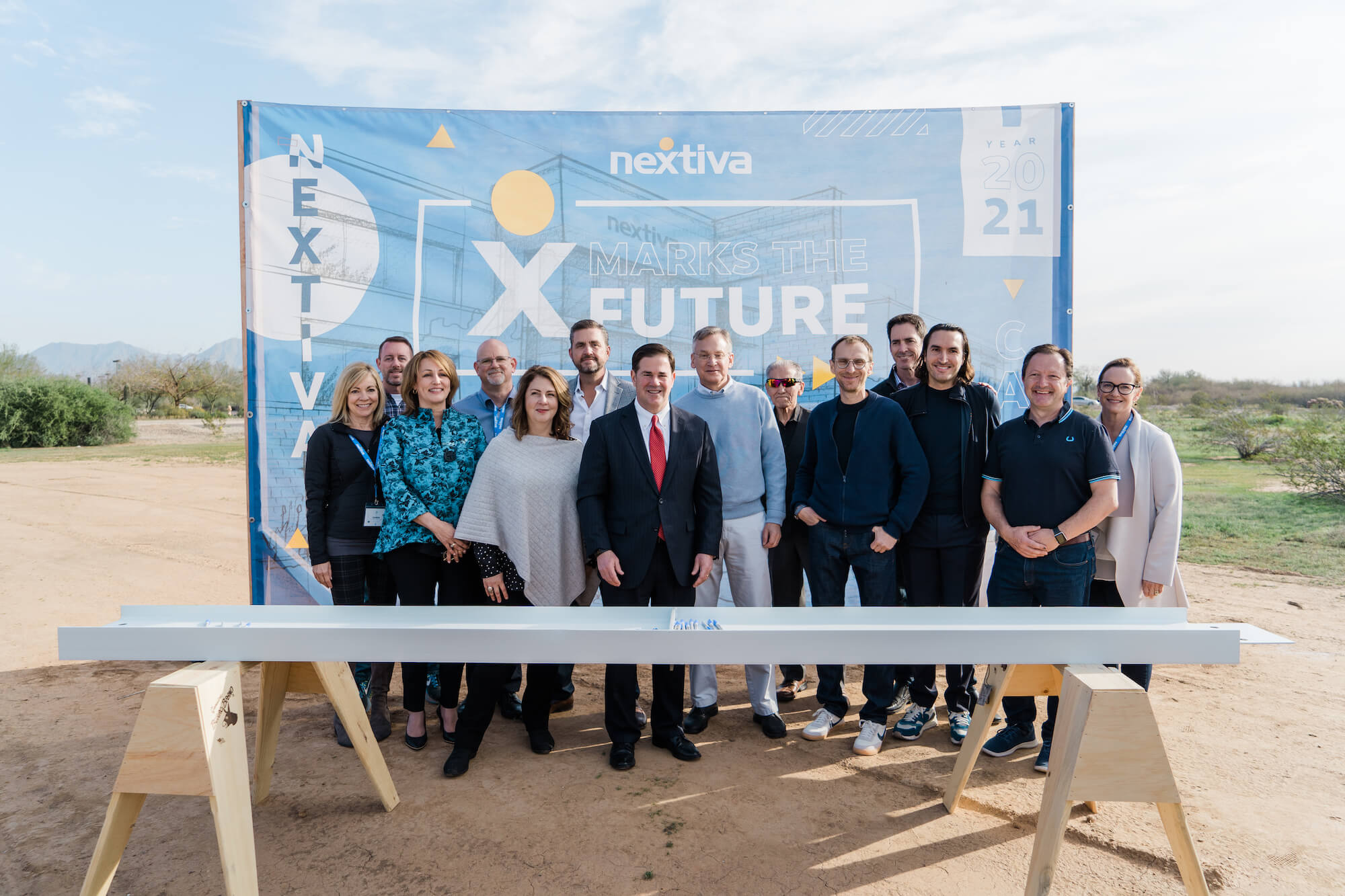 Nextiva's Leadership Team with Arizona Governor Doug Ducey