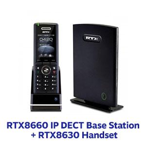 Image of RTX8660 IP DECT Base Station + RTX8630 Handset
