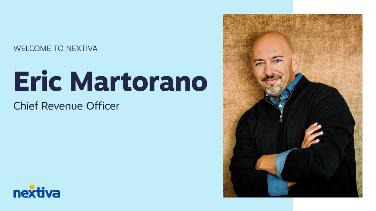Eric Martorano joins Nextiva as Chief Revenue Officer (CRO)