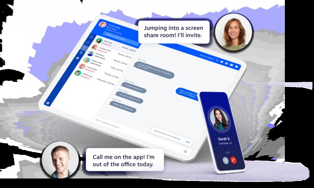 The Nextiva business phone app