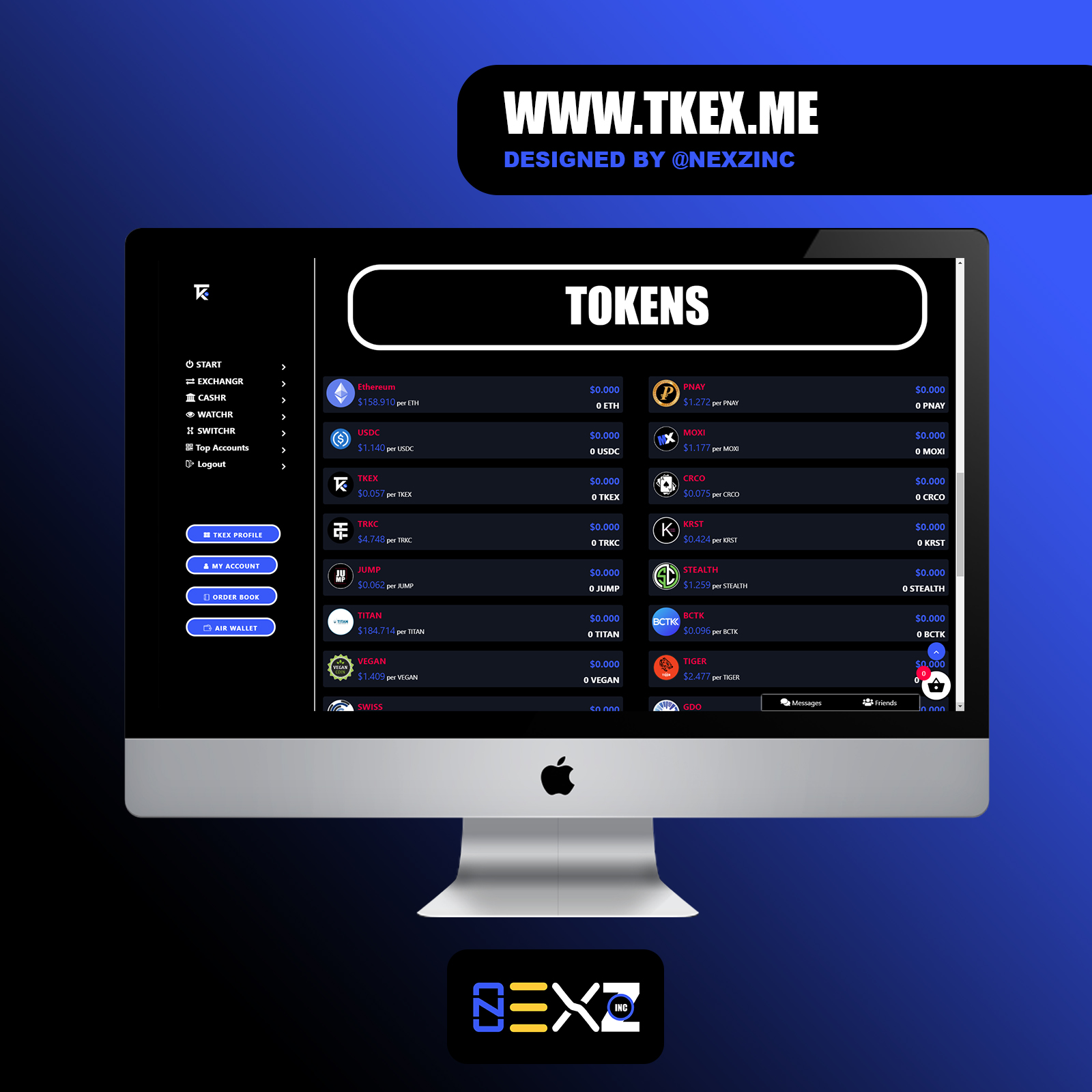 TKEX Token Page