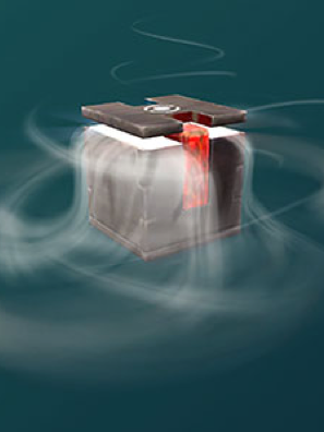 Screen captures showing an opening mystery box