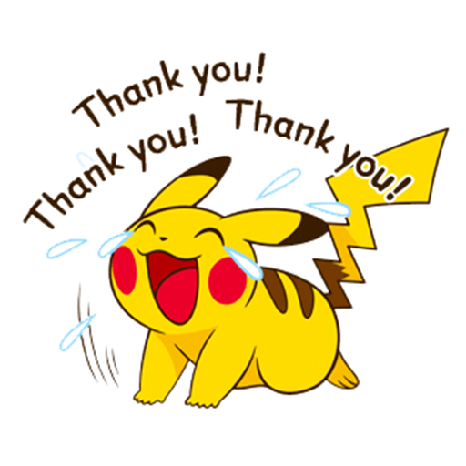 Pikachu saying Thank You