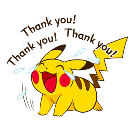 Pikachu saying Thank You