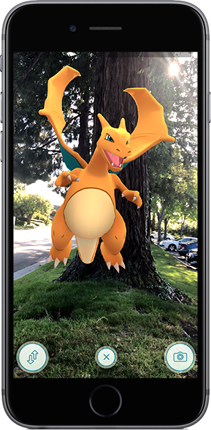Pokémon GO AR Encounter Screenshot