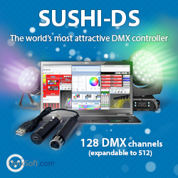 USB DMX lighting controller | SUSHI-DS