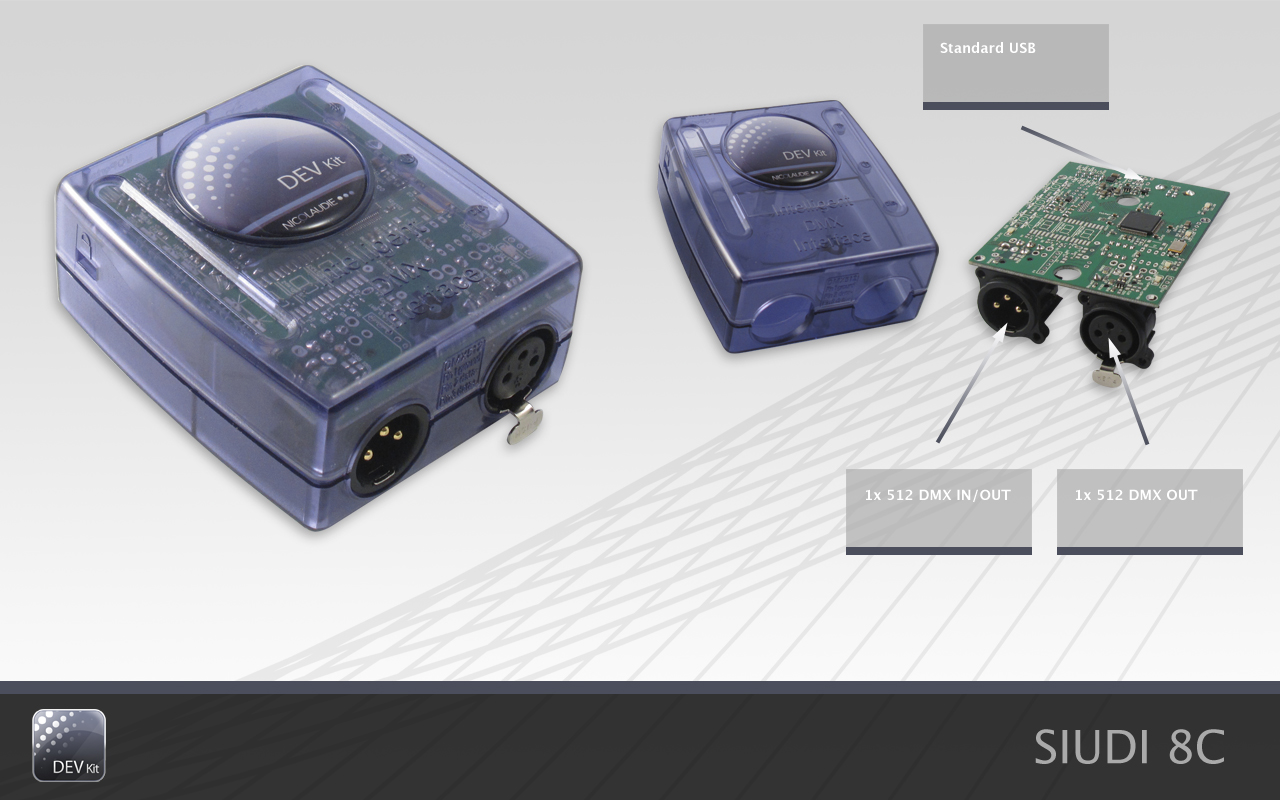 "DMX IN/OUT ""usb powered"" electronic card"
