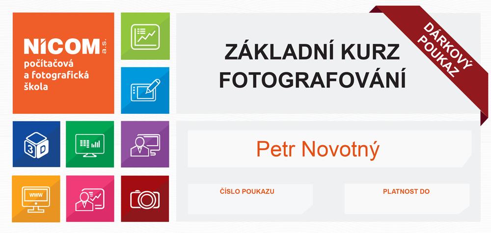 DÁRKOVÝ POUKAZ NA ZÁKLADNÍ KURZ FOTOGRAFOVÁNÍ