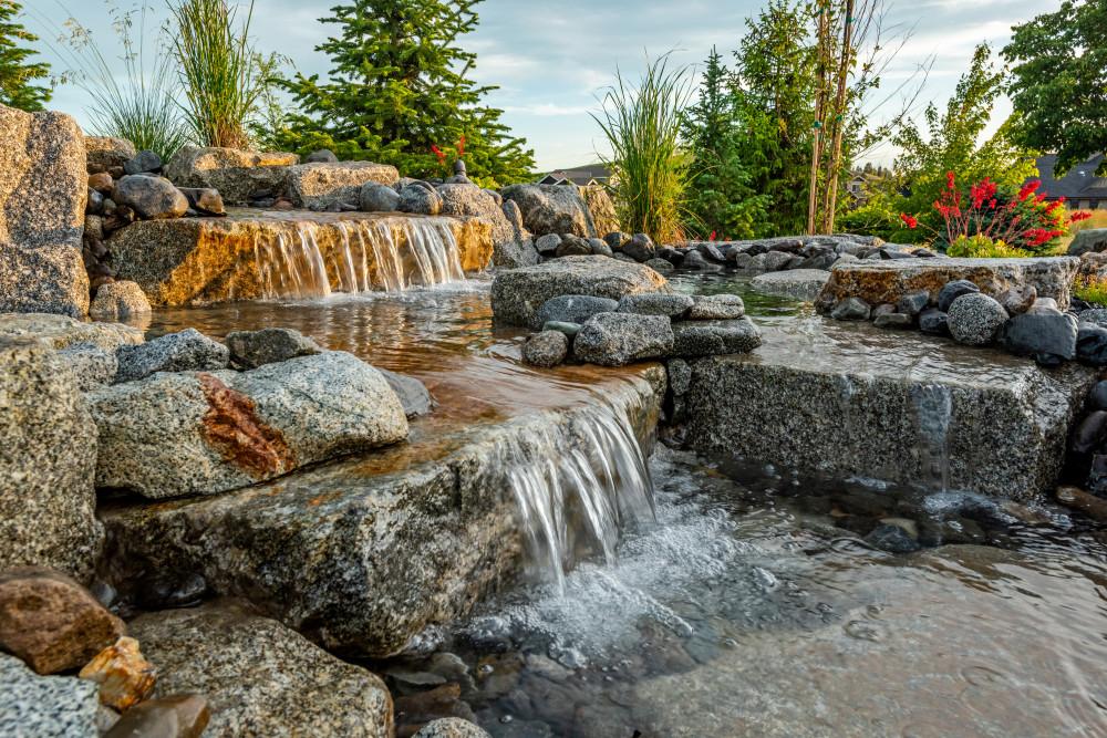outdoor water feature