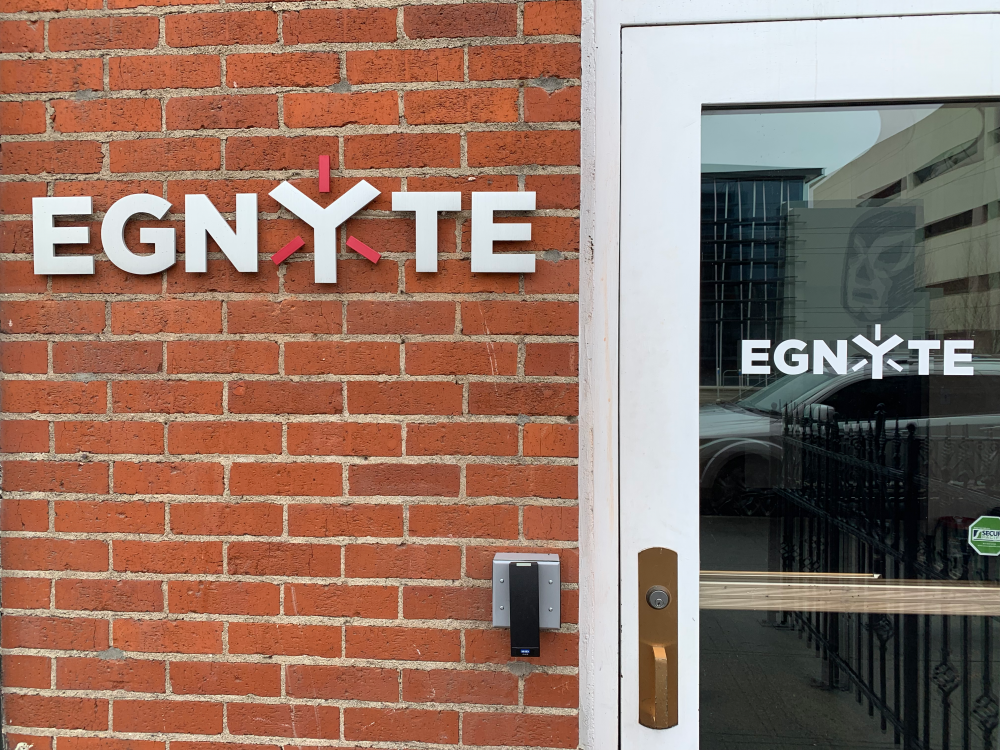 Entrance to the Egnyte office