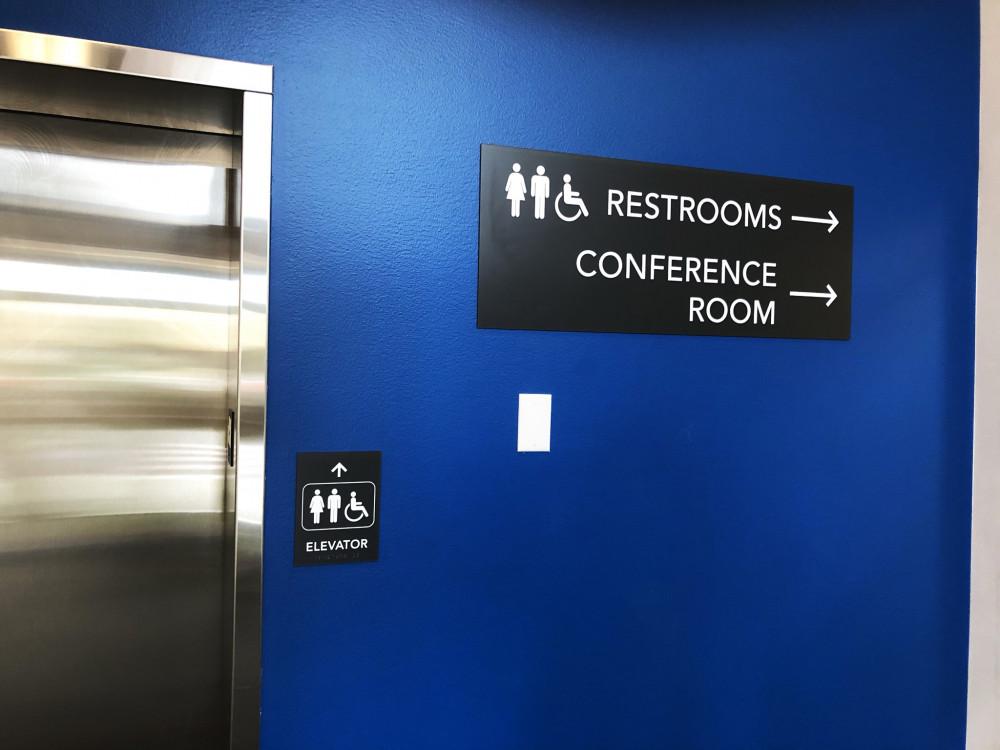 Elevator ADA Braille Plaque & Matching Directionals