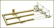 Polished Brass Tray Slide (Bracket 12in)