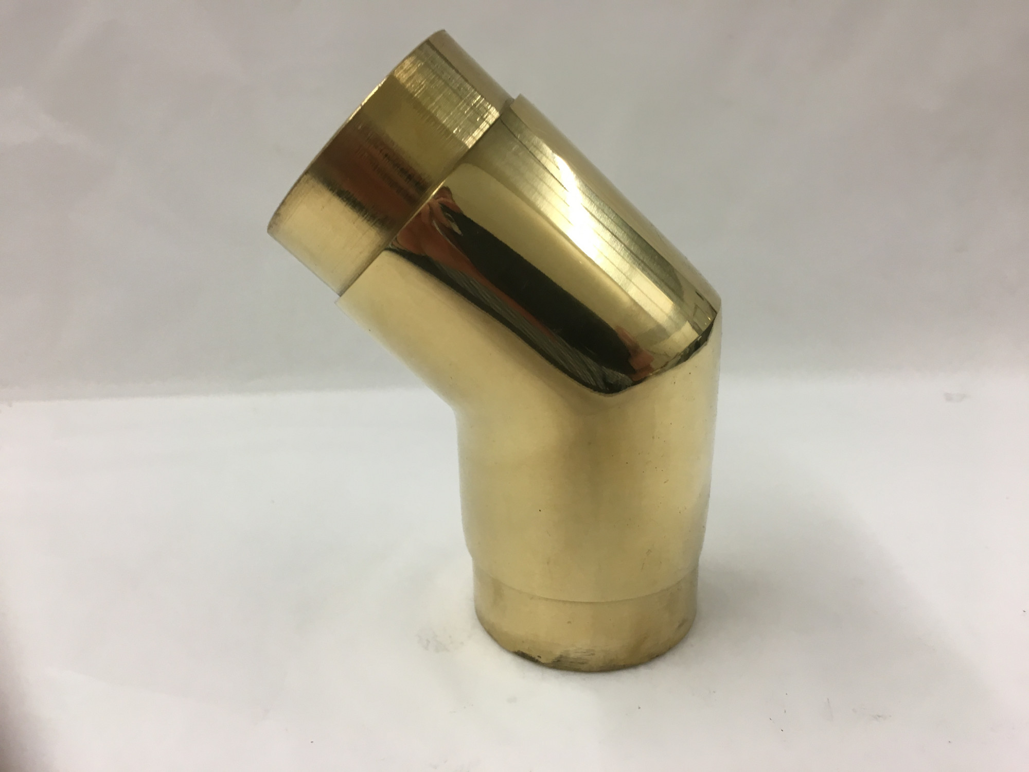 Polished Brass 45° Angle Elbow Fitting (1-1/2in)