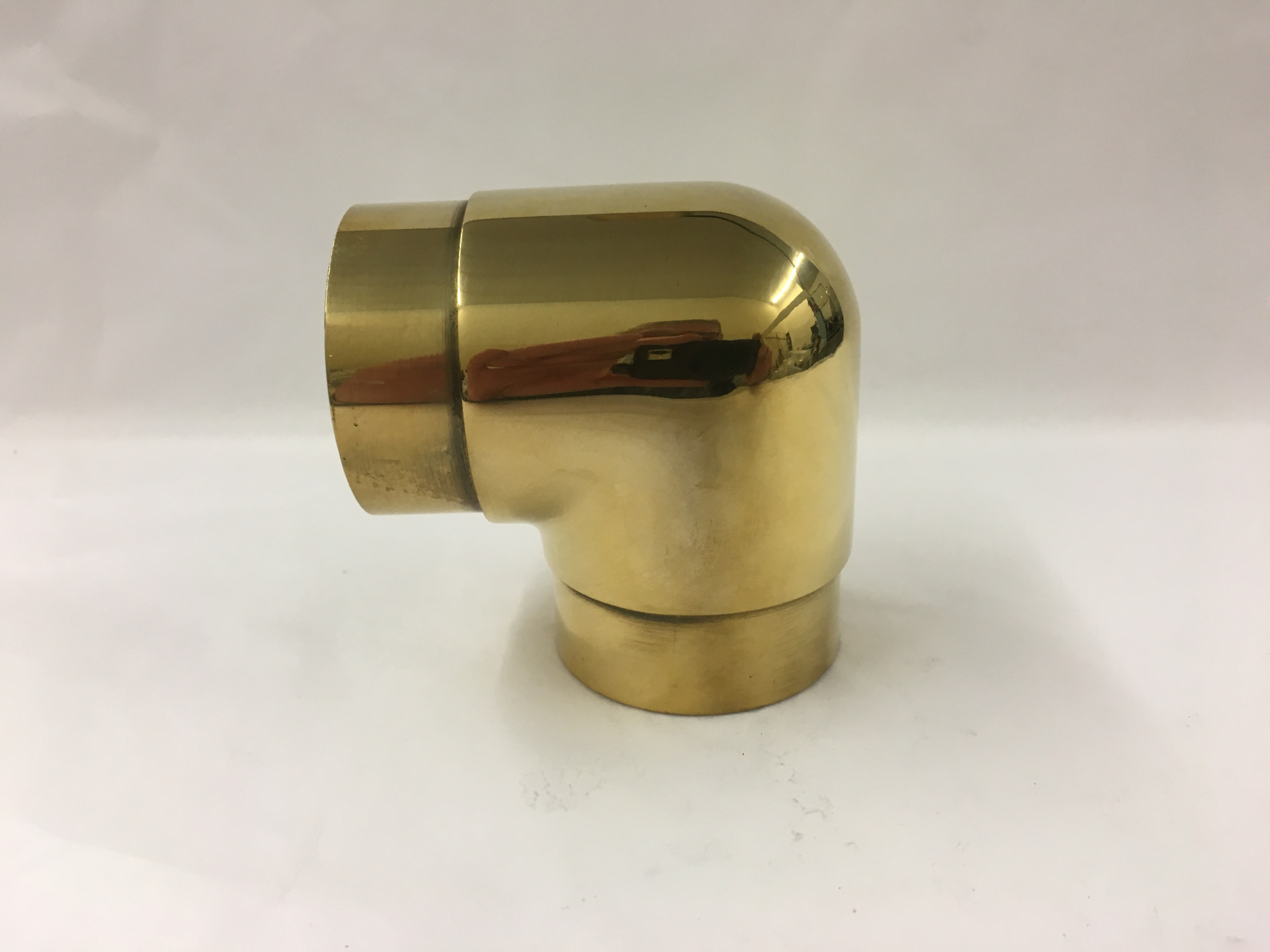 Polished Brass Flush Elbow Fitting  (2in)
