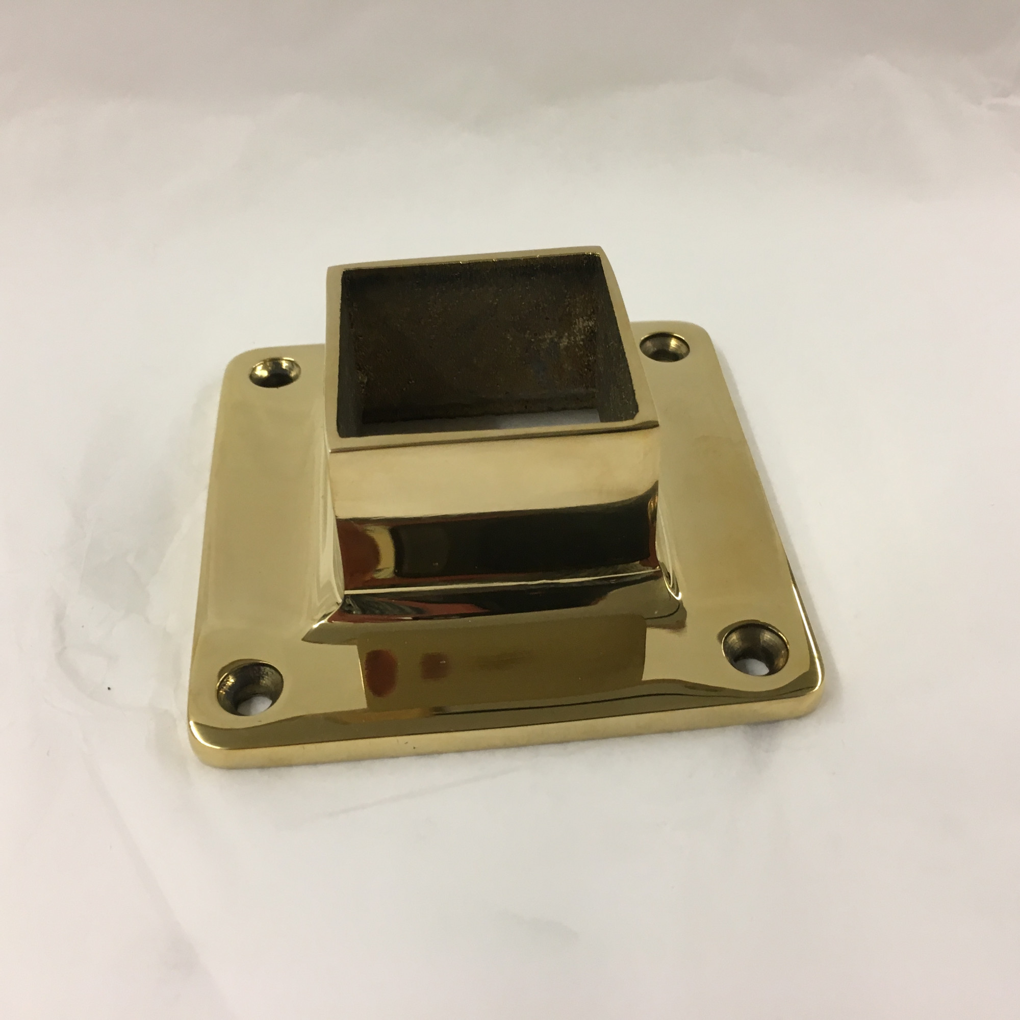 Polished Brass Square Wall Flange (1-1/2in)