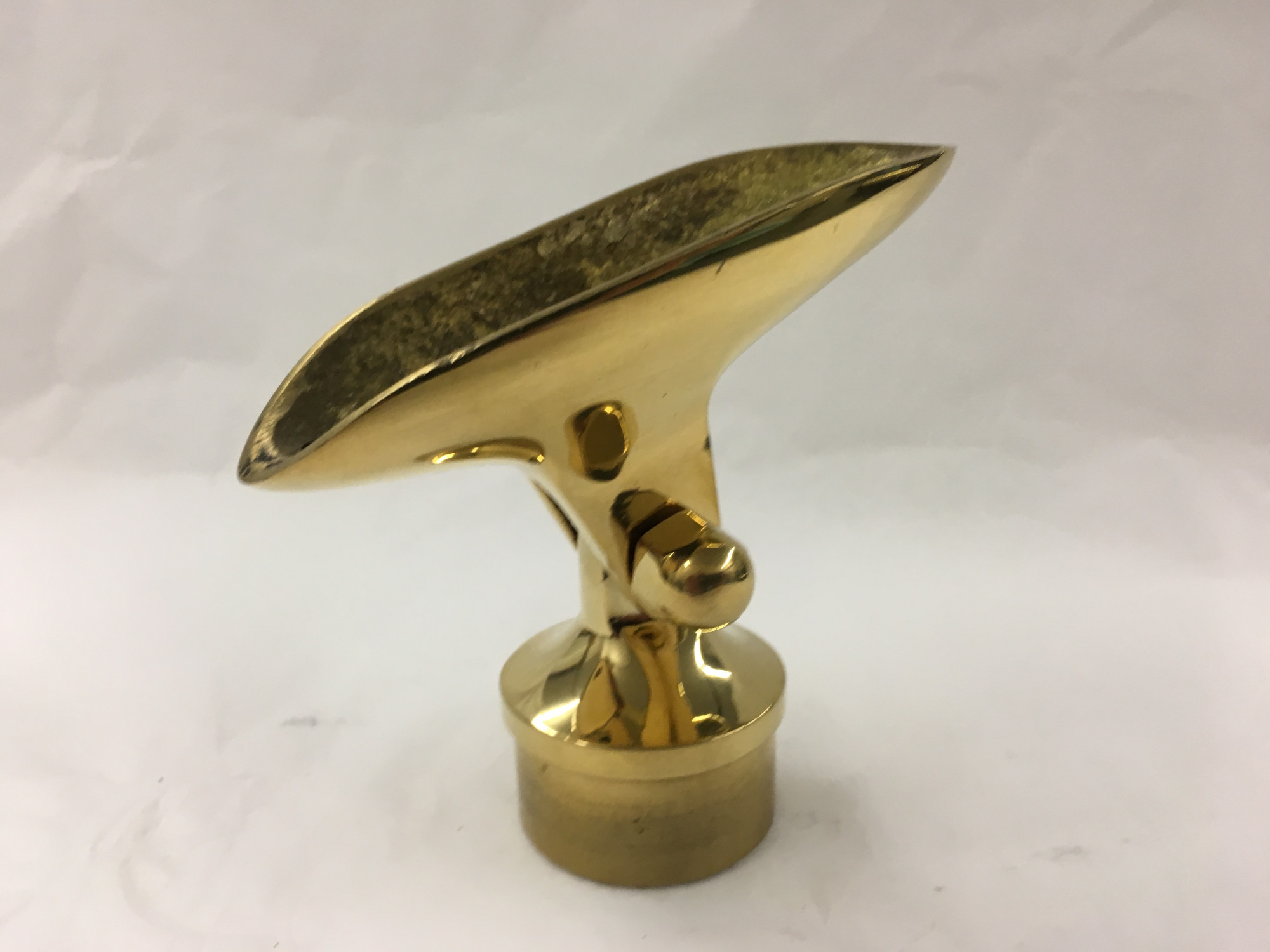 Polished Brass Adjustable Saddle Adapter  (1-1/2in)