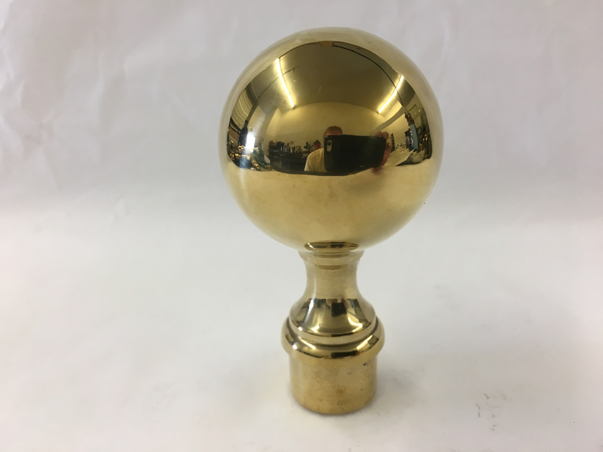 Polished Brass Ball Finial (1in)