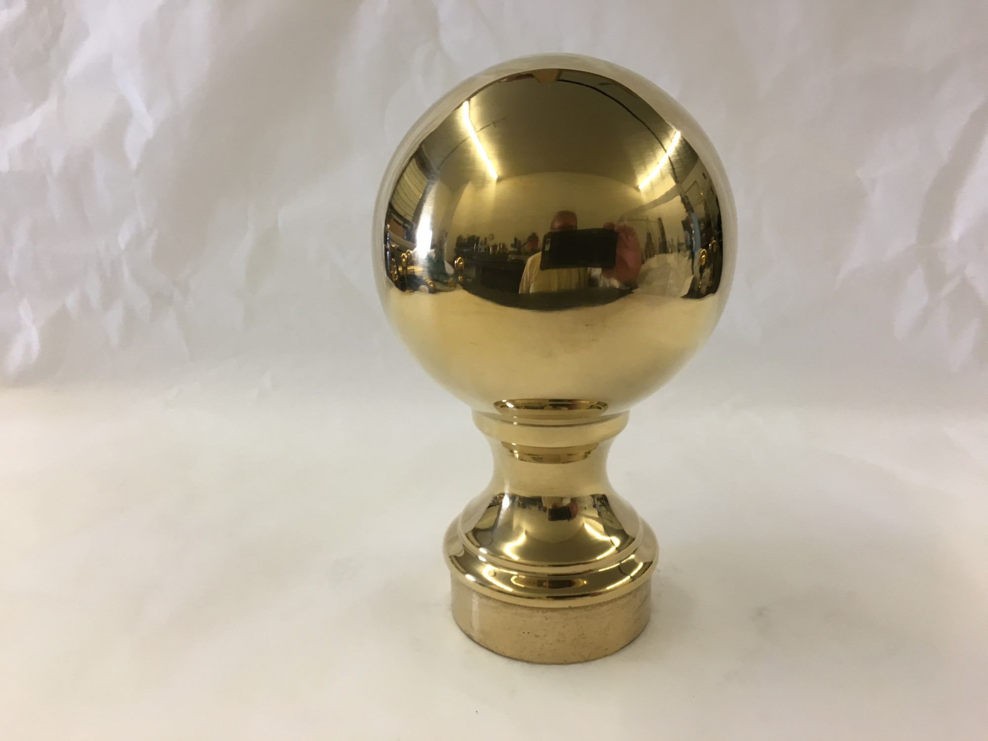 Polished Brass Ball Finial (3in)
