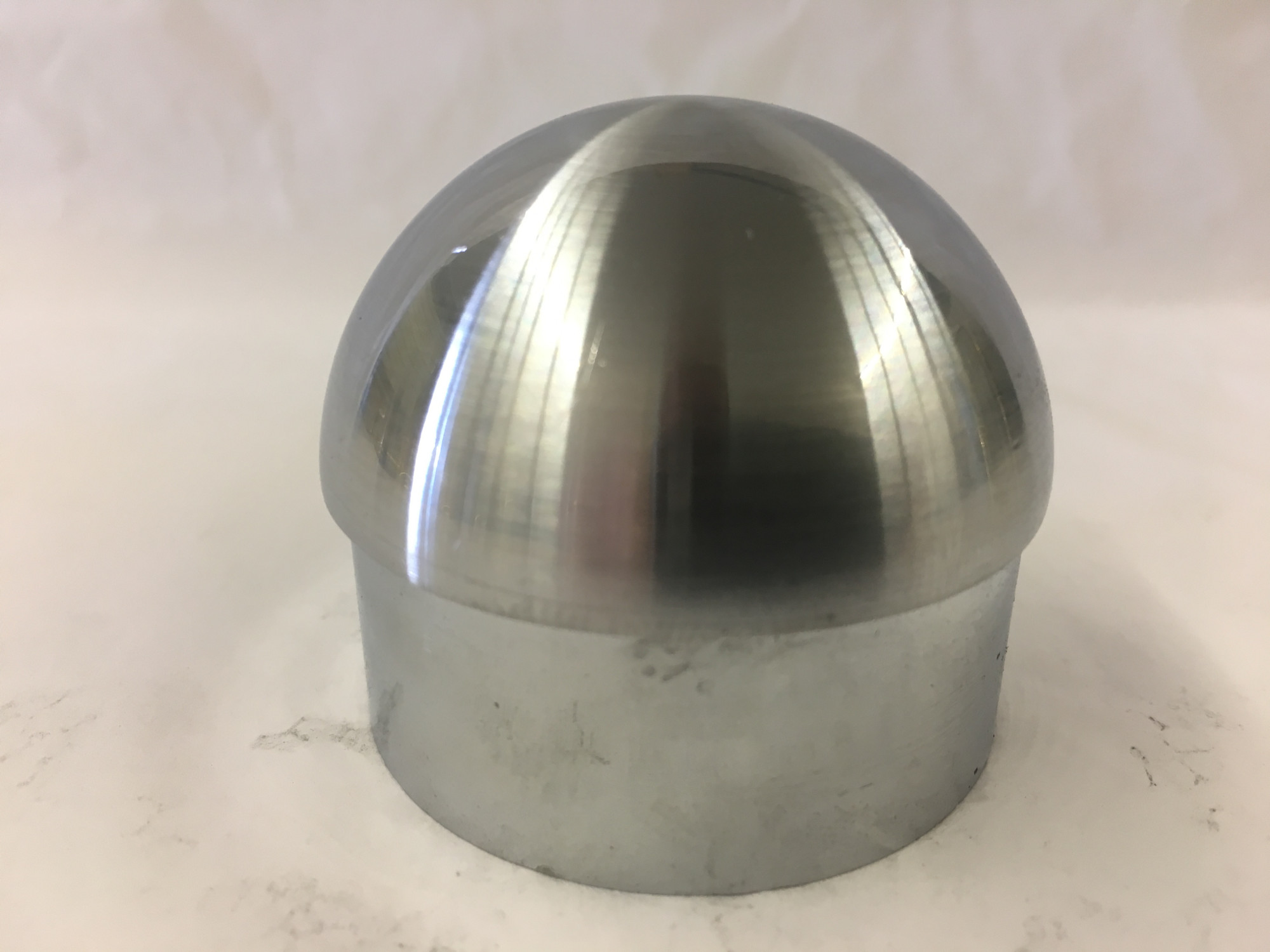 Satin Stainless Domed End Cap (2in)