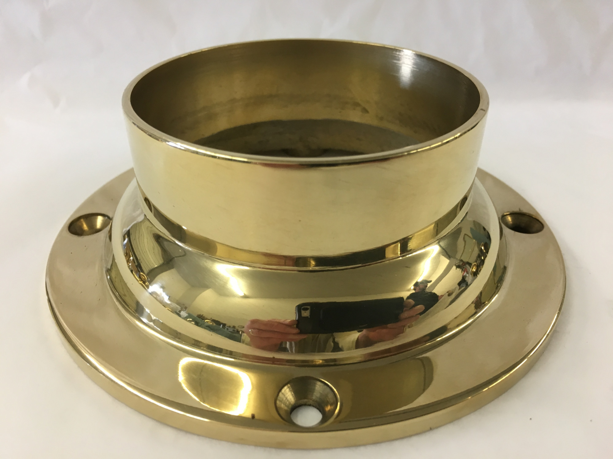 Polished Brass Standard Mounting Flange (3in x 5-1/2in)