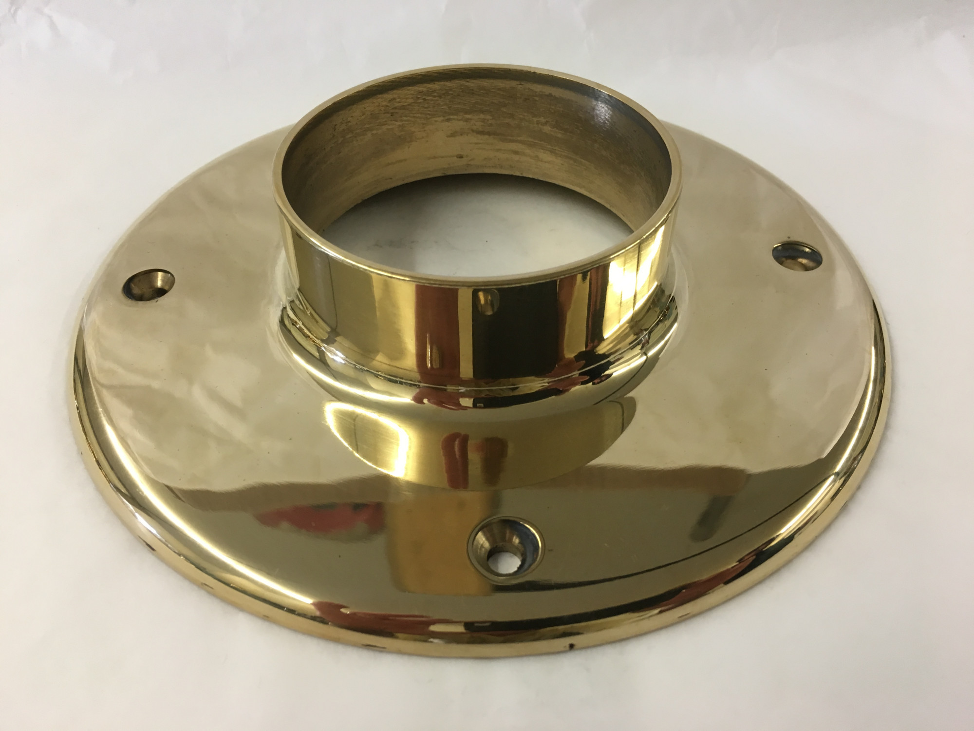 Polished Brass Heavy Duty Mounting Flange (3in x 7in)