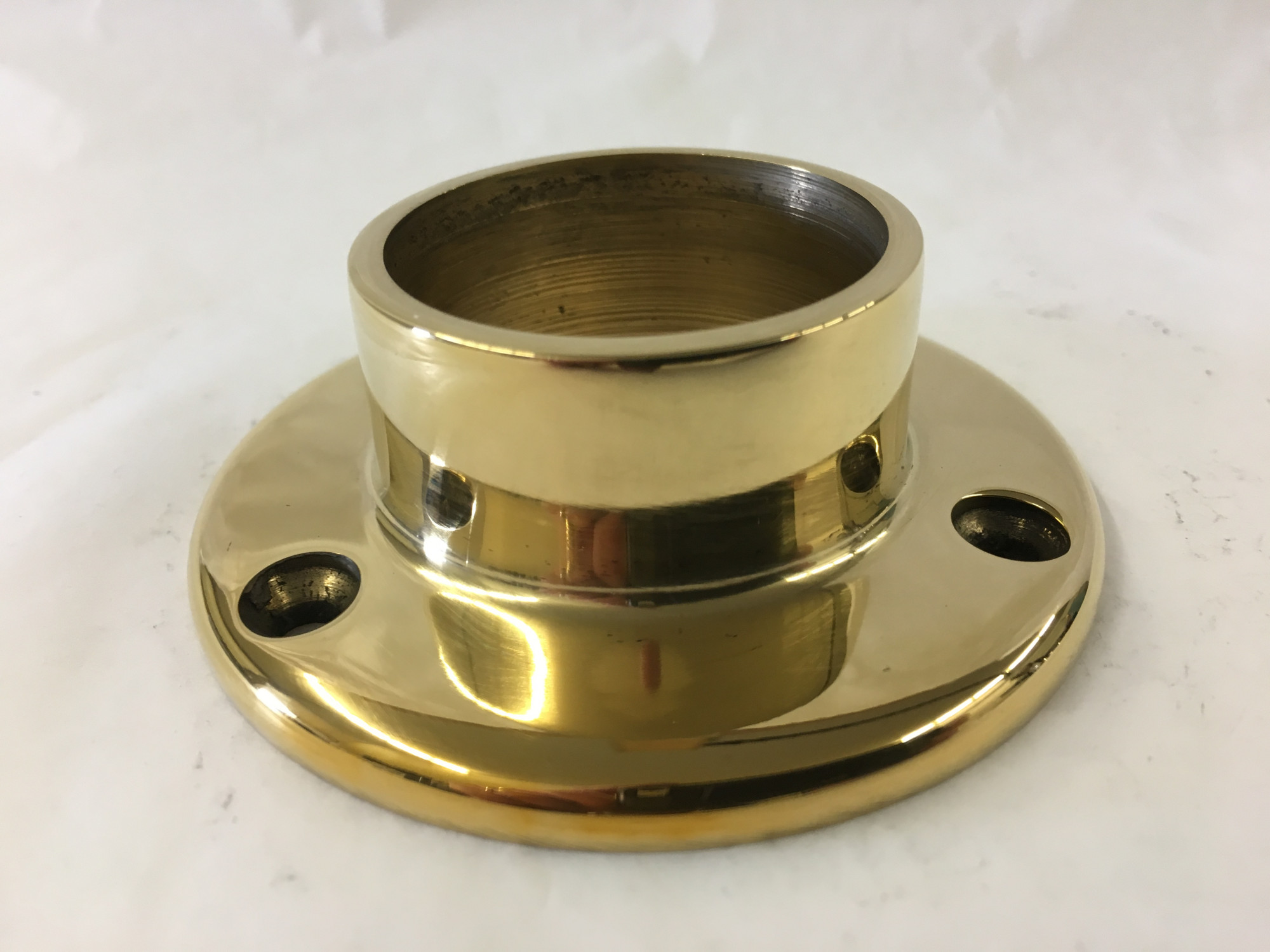 Polished Brass Wall Flange  (1-1/2in)