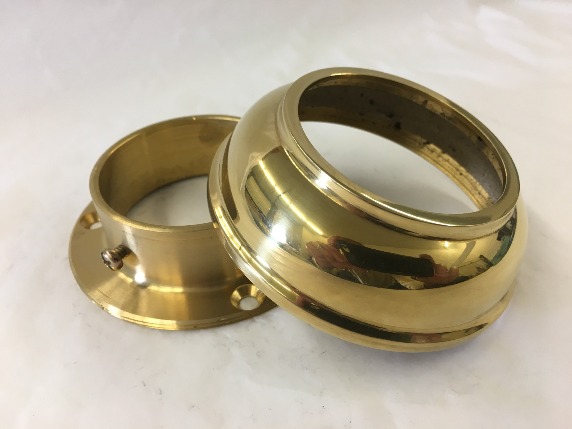 Polished Brass Wall Flange With Cover (2in)