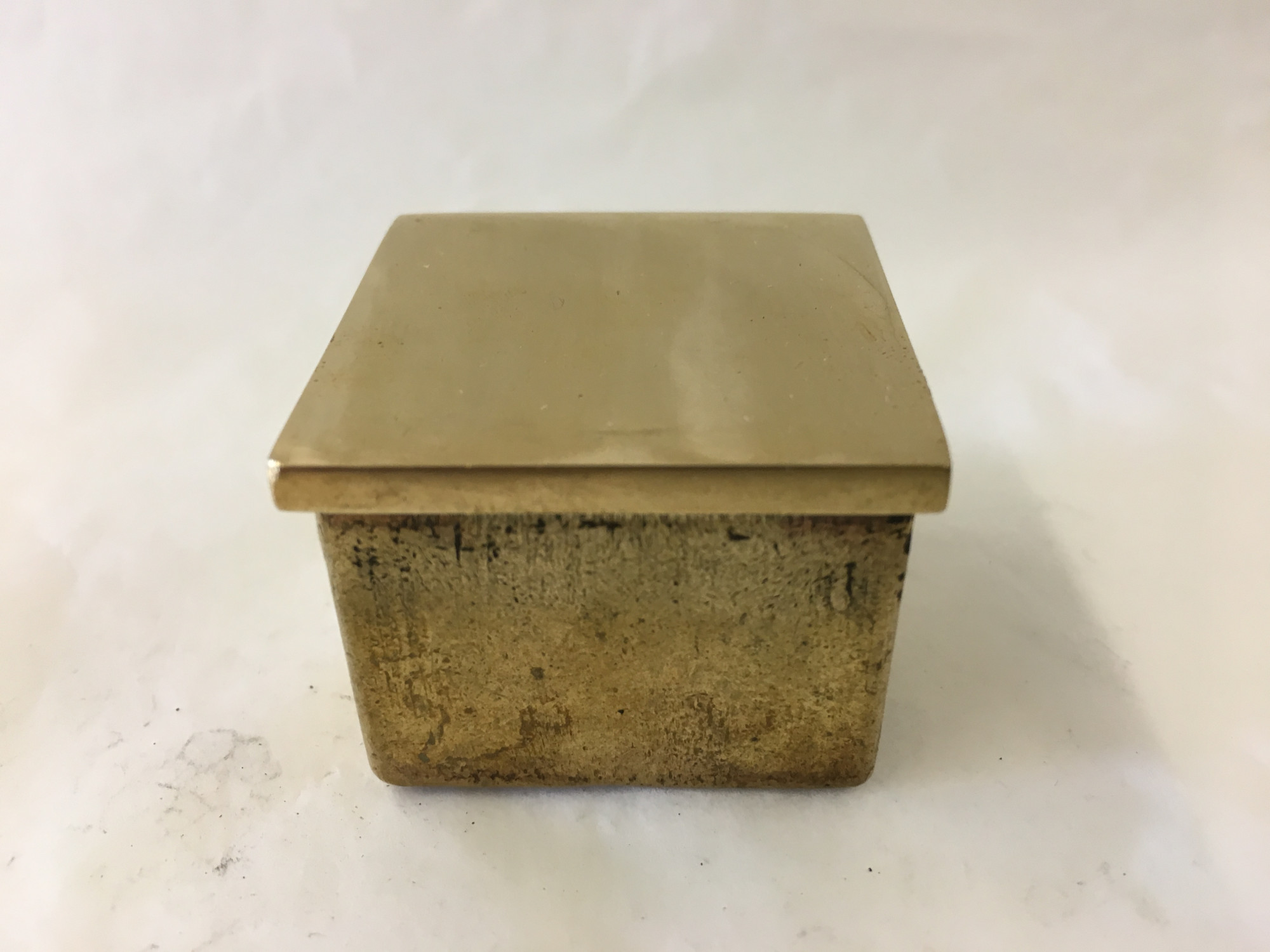 Polished Brass Square Flush End Cap (2in)