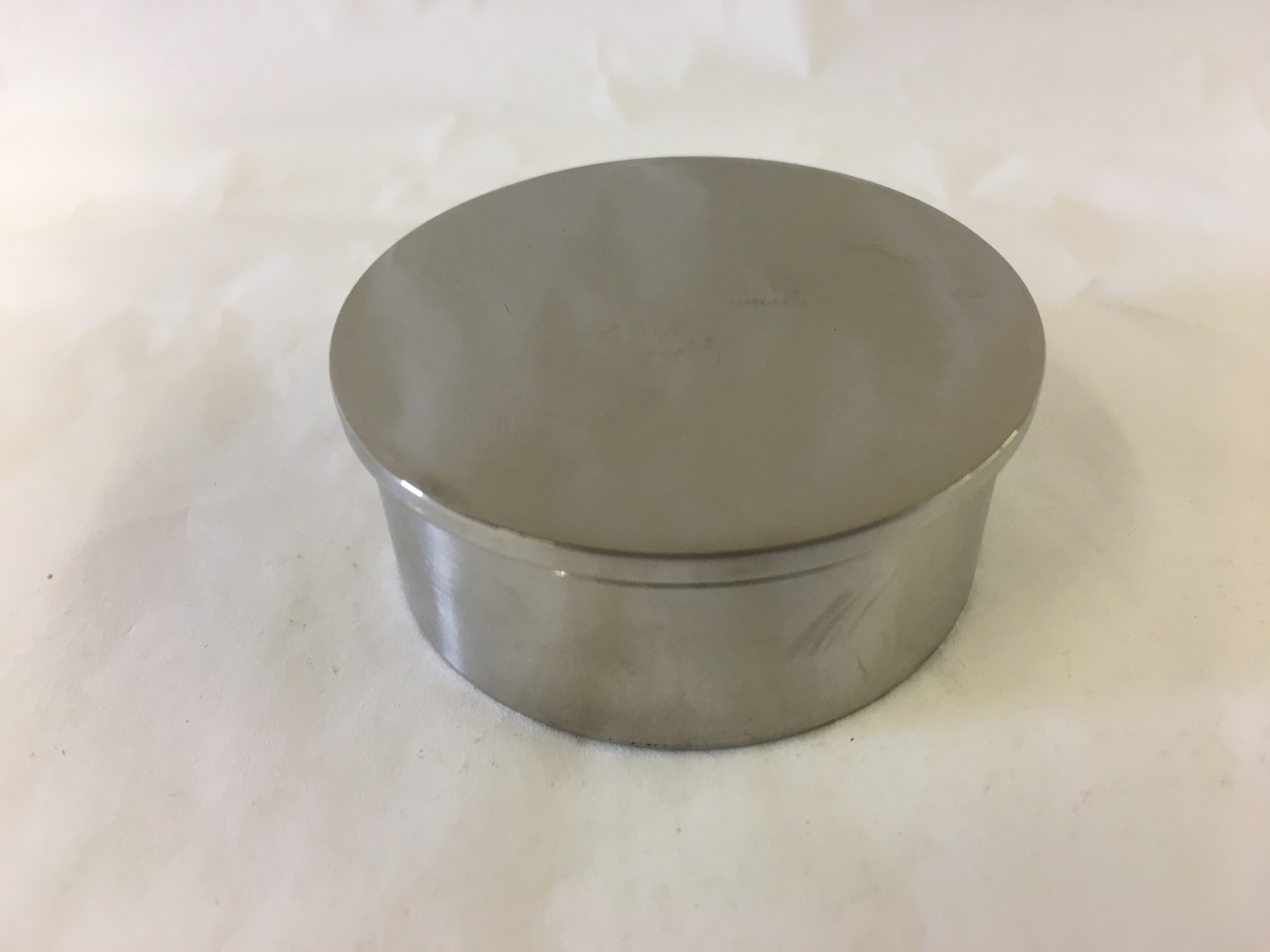 Polished Stainless Flush End Cap (2in)
