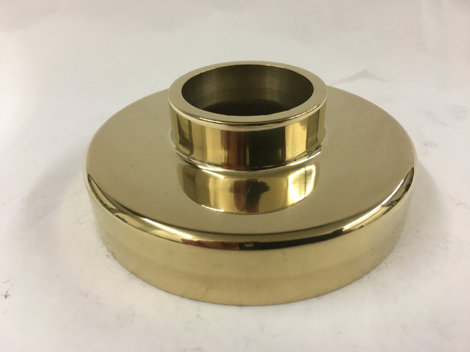Polished Brass Cast Flange Canopy (1-1/2in)